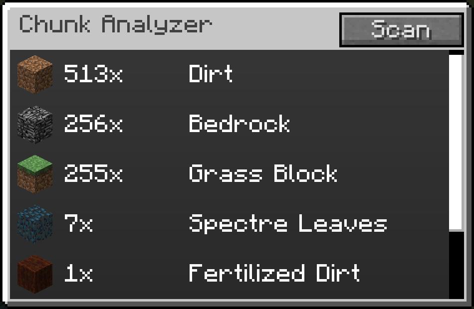 Chunk Analyzer - Random Things